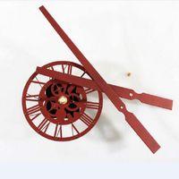 textura acrilica al por mayor-Nuevo diseño Mecanismo del reloj Mecanismo del reloj de pared Gran textura de óxido de acrílico Puntero Kit creativo Movimiento Reloj de arena Accesorios