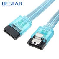 Wholesale Sata Cable 1m - (100pieces lot) 6Gbps 50CM 100CM SATA 3.0 Cable 6GB s 7Pin SATA III SATA 3 Cable Flat Extension Data Cable 0.5m 1m 3ft Connector