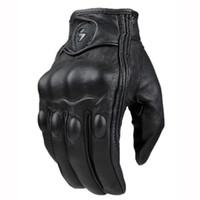 ingrosso guanti da corsa di dimensioni-Guanti moto moto in pelle MOGE marca gant uomini guanti moto guanti full finger da corsa motocross Taglia M L XL