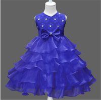 kızlar dantel kore parti elbisesi toptan satış-Perakende 2017 Yeni Kız Prenses Elbise Kore Tarzı Kızlar Dantel Gelinlik Çocuklar Parti Elbise Ilmek Ile Çocuk Dantel Tutu Etekler 100-140
