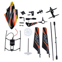 Wholesale Helicopter Head Shaft - WLtoys V911 RC Helicopter Accessories Bag Spare Parts KV911-0001 Head cover Balance Bar Main Blade Main Shaft Connect Buckle