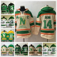 Wholesale Red Star Hoody - Dallas Stars hoodies Jamie Benn Jersey #14 20 Dino Ciccarelli 91 Tyler Seguin Ice Hoody Sweatshirts Red blue green beige
