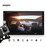 Wholesale Dvd Usb Tv - 7012B+Rear Camera 7 Inch Bluetooth TFT Screen Car Audio Stereo MP5 Player 12V Auto 2-Din Support AUX FM USB SD MMC JPEG,WMA,MP4 car dvd