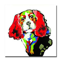 Wholesale Personalized Picture Canvas - Hand drawing pet dog canvas wall art modern painting hot sale product living room decoration personalize picture canvas