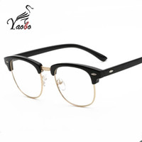 Wholesale Plain Fashion Glasses For Women - Yaobo 2017 New Fashion Brand Women Plain Glasses frame men Women Clear Square Eyewear High Quality Vintage Glasses For Women