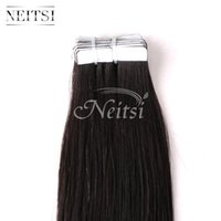 """Wholesale Natural Human Hair Extensions 24 - New Arrival 24"""" 28'' Tape in Human Hair Extensions Straight Natural Colour PU Skin Weft 20pcs 40g lot"""