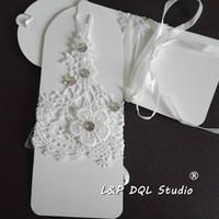luvas de renda para casamentos venda por atacado-Últimas luvas de noiva curto do laço com luvas Acessórios Beads New Arrival gratuito Wedding envio de noiva barato do Marfim