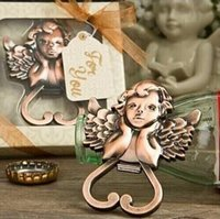 Baby Shower предпочитает антикварный медный ангел Cherub Wine Bottle Opener Wedding Bridal Shower Favors 50pcs Wholesale