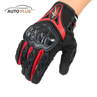 Wholesale Motor Bike Racing Gloves - Wholesale- 3 Size 3 Colors Pro-biker Thumb and Index Finger Touch Screen Full Finger Gloves for Moto Motorcycle Racing Riding Motor Bikes