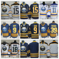 Buffalo Sabers Jerseys # 15 Jack Eichel Navy Blue Home Jersey Vente en gros Cheap Authentic Stitched Hockey Jerseys Chemises