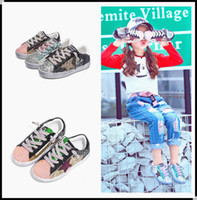 Wholesale Stylish Kids Shoes - Newest Children Fashion Fall Casual Shoes Designer Girls Board Shoes Children's Leisure Paillette Shoe Kid Girl Stylish footwear KW-SH011