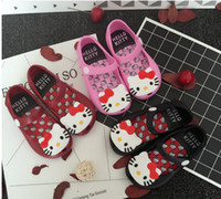 Wholesale Jelly Cat Animals Wholesale - Melissa jelly shoes Girls cute cat princess Sandals children cartoon Flat Sandal kids Soft bottom shoes girls fragrance sandals T3894