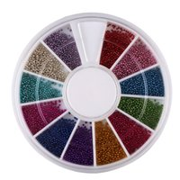 Wholesale Steel Beads Nail - Wholesale- Steel Beads For Metal Caviar Design Wheel Decorations Nail Art Supplies Stickers