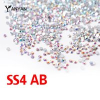 All'ingrosso-SS4 cristallo ab chiodo strass, 1440pcs / lot posteriore piana non hotfix glitter pietre per unghie, fai da te 3d nail phones decorazioni forniture