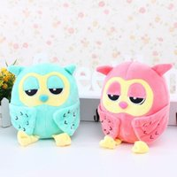Teddy Bear owl cuddly toy - 2 x PC High Quality Plush Owl Toy CM Kawaii Animal Soft Stuffed Cuddly Baby Show Decro Kids Baby Children Birthday Gift