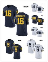 a3a0e231c1e Football Men Short Customized 5 Jabrill Peppers Michigan Wolverines 88 Jack  Dunaway 16 Jack Wangler Stitched