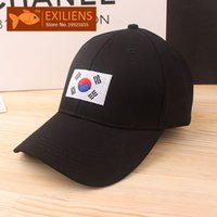 Wholesale Korea Snapback - [EXILIENS] Fashion 2017 Brand Baseball Cap Cotton Top Quality Korea Hot Snapback Caps Strapback Bboy Hip-hop Hats For Men Women Fitted Hat