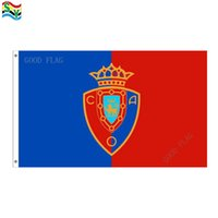 Wholesale Flag Artwork - GoodFlag Free Shipping Osasuna flags artwork flags banner 3X5 FT 90*150CM Polyster Outdoor Flag