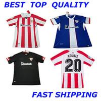 Soccer Unisex Short Athletic Club Bilbao Home Soccer Jersey 17 18 Athletic  short sleeve soccer shirt ce05c626f79d5