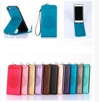 Wholesale Iphone 4s Mobilephone - For iPhone 4S 5S 6S 7 Plus Samsung Galaxy Note 4 5 Nokia Huawei Fashion Mobile Case Flip Cover with Stand Mobilephone Kickstand