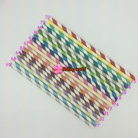30Pcs paglia a righe paglia Biodegradable Colorful Drinking Straws per i capretti Decoratishing Baby