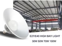e27 scheinwerfer großhandel-E40 / E27 30W 50W 70W 100W führte hohe Buchtlichtflutlichtstadionsbeleuchtungs-Lagerwerkstatt Marktplatzlampen Scheinwerfer SMD5730 Chip