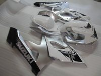 Wholesale Silver White Fairings - Aftermarket body parts fairings for Suzuki GSXR1000 2005 2006 silver white injection mold fairing kit GSXR1000 05 06 OT66
