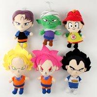 Wholesale Dragon Ball Z Plush - 1pcs 22cm New Anime Dragon Ball Z Plush Doll Action Figures Master Stars Son Goku Super Saiyan Vegeta Dragoll Soft Baby Toy