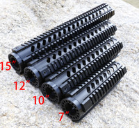 Wholesale Handguard Rails - Tactical T-Series 7 10 12 15 Inch Free Float Quad Picatinny Rail Handguard Installs On Standard Carbine Length AR-15 M16 Rifles
