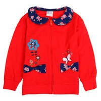 Wholesale Nova Kids Clothing - Wholesale- retail spring autumn baby girl clothing jacket 2016 new born floral nova kids warm childen clothes coat new girls clothing
