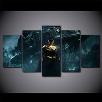Wholesale Hd Movie Pictures - 5 Panel Framed HD Printed Injustice 2 Superman Movie Wall Art Canvas Modern Painting Poster Picture For Home Decor