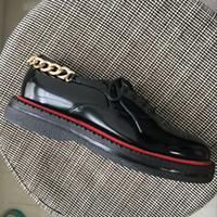 Wholesale oxford shoes 39 men for sale - Group buy Drop Shipping New mens black patent leather oxfords brand design thick bottom back chain business wedding red bottom dress shoes