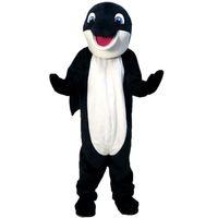 erwachsene delphinkostüme großhandel-Dunkelblaue Delphin Maskottchen Kostüm Zeichentrickfigur Erwachsene Größe hohe Qualität Longteng (TM) 03444