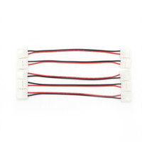 conectores de tira led de 8mm al por mayor-10mm 8mm 2 Pin de un solo color 5050 Conector de tira LED Libre de soldadura Conectando alambre Conector de PCB Led