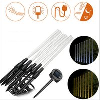 Wholesale Warmer Stick - 8 LED Solar Light Rechargeable Pure Warm White Acrylic Bubble Stick LED Outdoor Light Garden Landscape Lighting Lawn Lamp