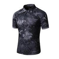 engranaje de camuflaje al por mayor-Equipo táctico de los hombres Airsoft Special Ops Camisa de combate Camuflaje Peso ligero Camisa de manga corta de secado rápido