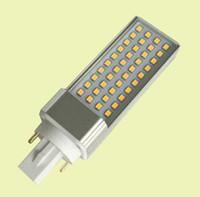 levou luz de luz pl venda por atacado-Frete grátis 100 pçs / lote 9 W E27 / G23 / G24 (2 pinos, 4 pinos) LED PL luz Epistar SMD2835 leds indoor usando PLC comercial lâmpada