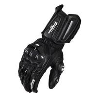 Wholesale motorcycle carbon fibre - Wholesale- Motorcycle Gloves GP PRO Real Genuine Leather Glove Carbon Fibre Men Racing Motorbike Motocicleta guantes moto Guantes Luvas