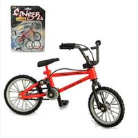 Wholesale Mini Finger Bmx - Wholesale-Alloy Mini Finger BMX bike toys Model Bicycle Fixie with 2 Spare Tire Tools toy Finger bikes boy gift
