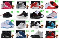 Wholesale French Tables - Boys Girls Retro 12 Kids Basketball Shoes Childrens 12s Gym Red 12s Barons Wolf Grey French Blue Sports Shoes Toddlers Birthday Gift