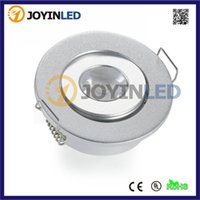 Wholesale Free Led Downlights - Wholesale- Mini round 1X3W 3W high power led ceilling light AC85-265 220lm home led downlights led Spot lamps Free Shipping