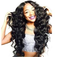 Wholesale Black Full Fashioned Stockings - Top Quality fashion wave wig Simulation Brazilian Human Hair Wave Full Wigs In Stock free shipping in stock