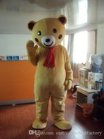 Wholesale Cartoon Character Costume Bear - Teddy brown bear Mascot Costumes Cartoon Character Adult Sz 100% Real Picture