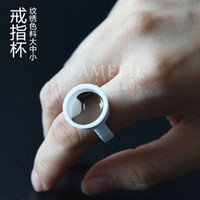 Wholesale Tool Eyebrow Ring - Korean semi permanent tattoo supplies tools tattoo eyebrow tattoo pigment ring cup 50.