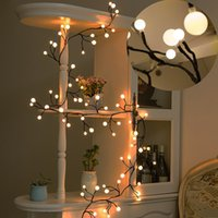 Wholesale christmas bulbs for curtains online - 8 ft Bulbs LED Globe String Lights Waterproof Fairy Starry Light LED Decorative Lights for Bedroom Patio Garden Wedding Party Christmas