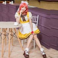 maki nishikino cosplay 2018 - New Arrival Love Live Nishikino Maki Maid Costumes Uniform Temptation Sexy Cosplay Halloween Anime Clothing Hot Selling