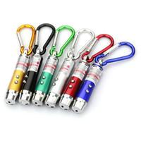 ledli lazer kalemler toptan satış-3 in 1 Mini Lazer Kalem Pointer LED El Feneri Ile UV Torch Işık Anahtarlık Çalışma Kamp Cep Çalışma Kamp Için LED Kalem