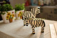 Wholesale Zebra Accessories - 2017 Home Furnishing Nordic wood carving ornaments pony Animal Zebra Home Furnishing Home Furnishing creative decorative accessories