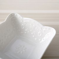 Wholesale Bone China Dinner Plate Sets - Modern Style Elegant Engraving Bone China Dessert & Fruit Plate and Bowls Set (5 pcs) with Lace for Dinner Party   Buffet