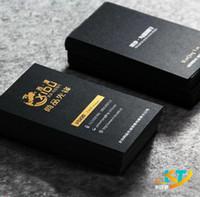золотые имена оптовых-Твердый матовый черный визитная карточка имя карты серебряная золотая фольга печать печать толстые карты